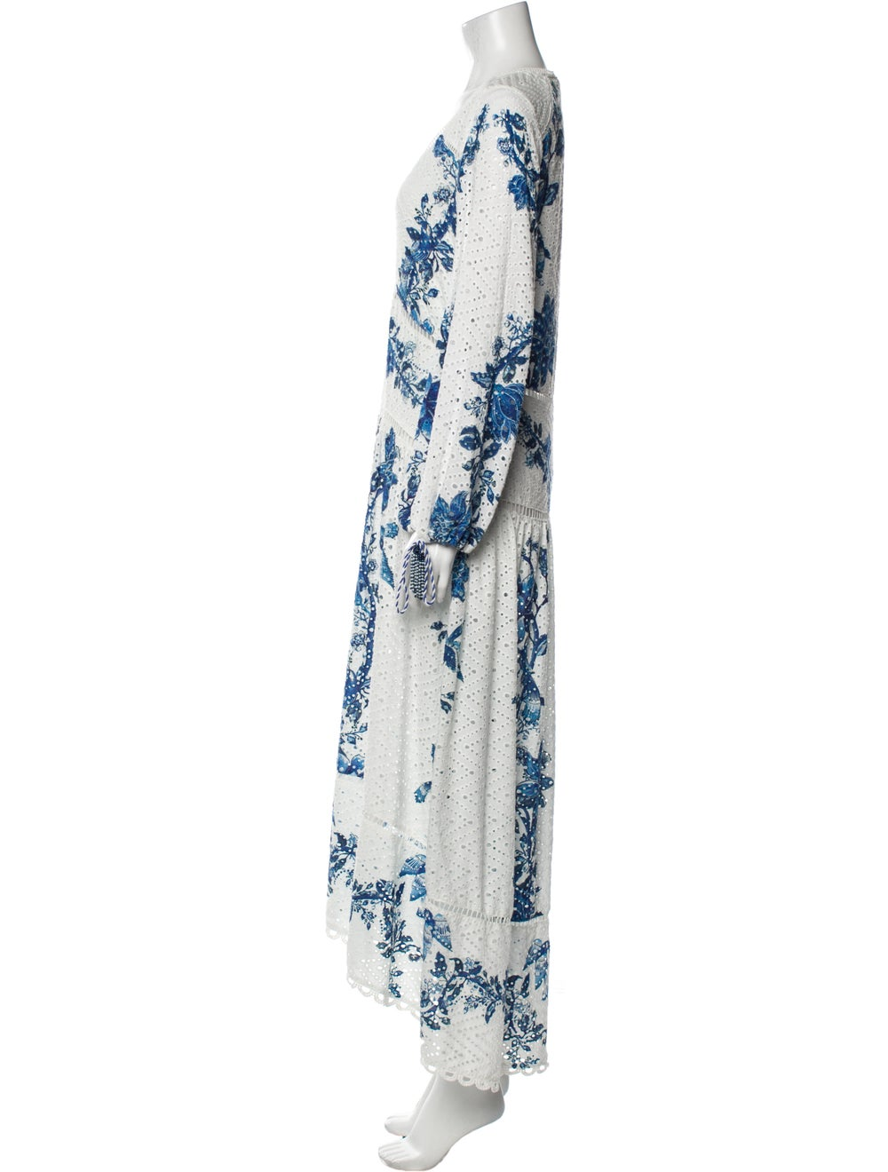 Farm Rio Printed Long Dress White - image 2