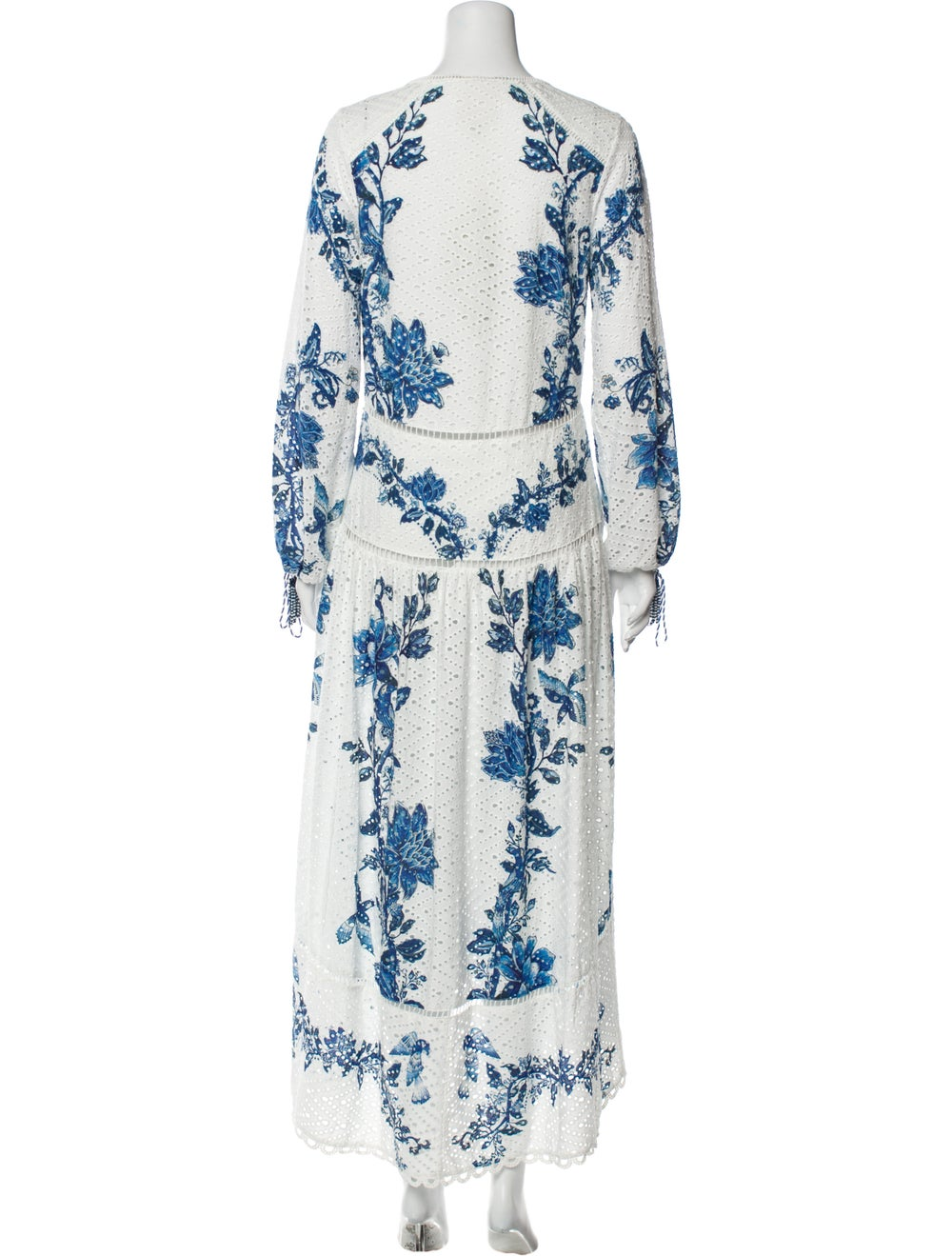 Farm Rio Printed Long Dress White - image 3
