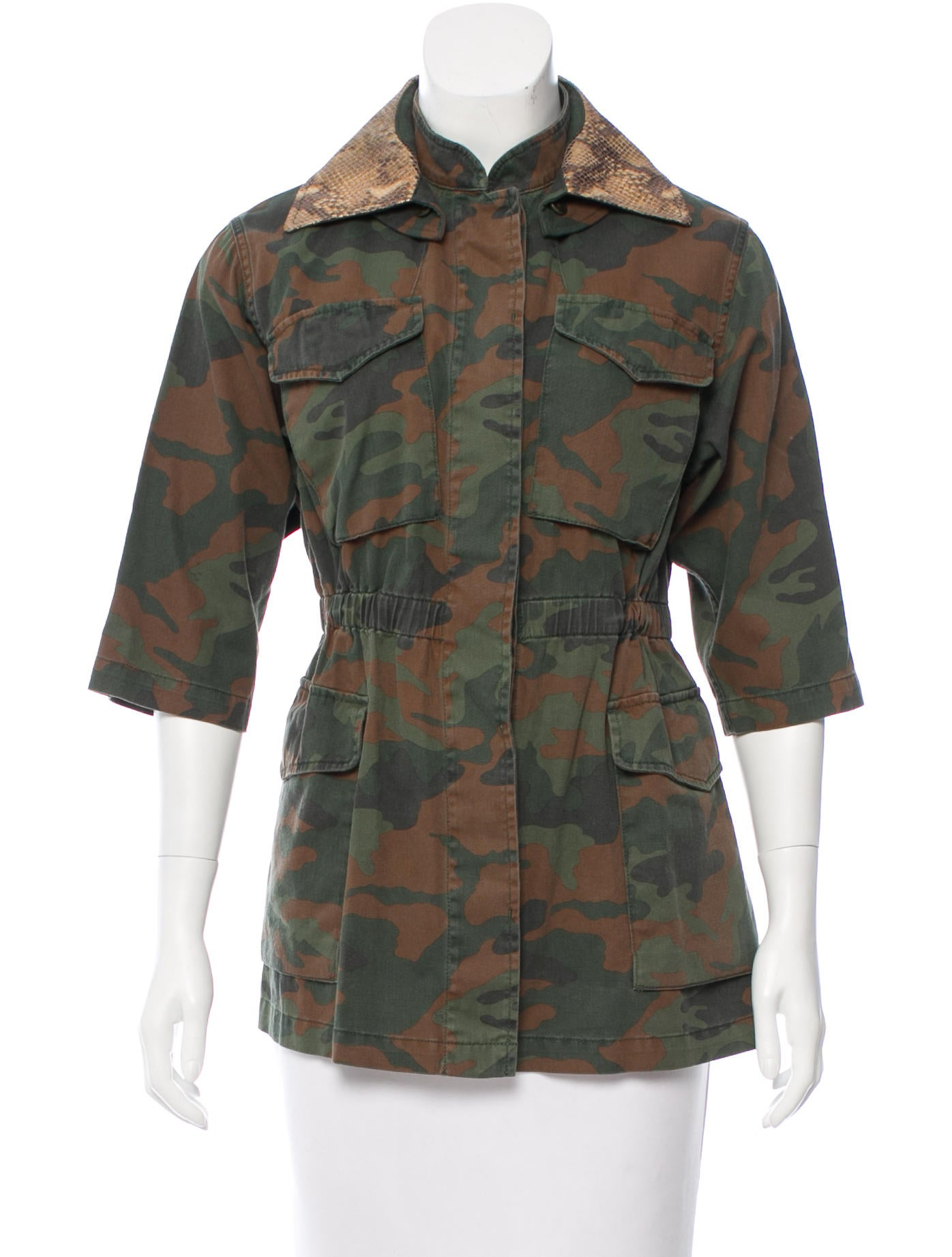 Dining Room Table Size For 8 Fay Camouflage Utility Jacket W Tags Clothing
