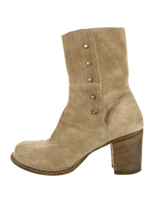 Fiorentini + Baker Suede Boots Green