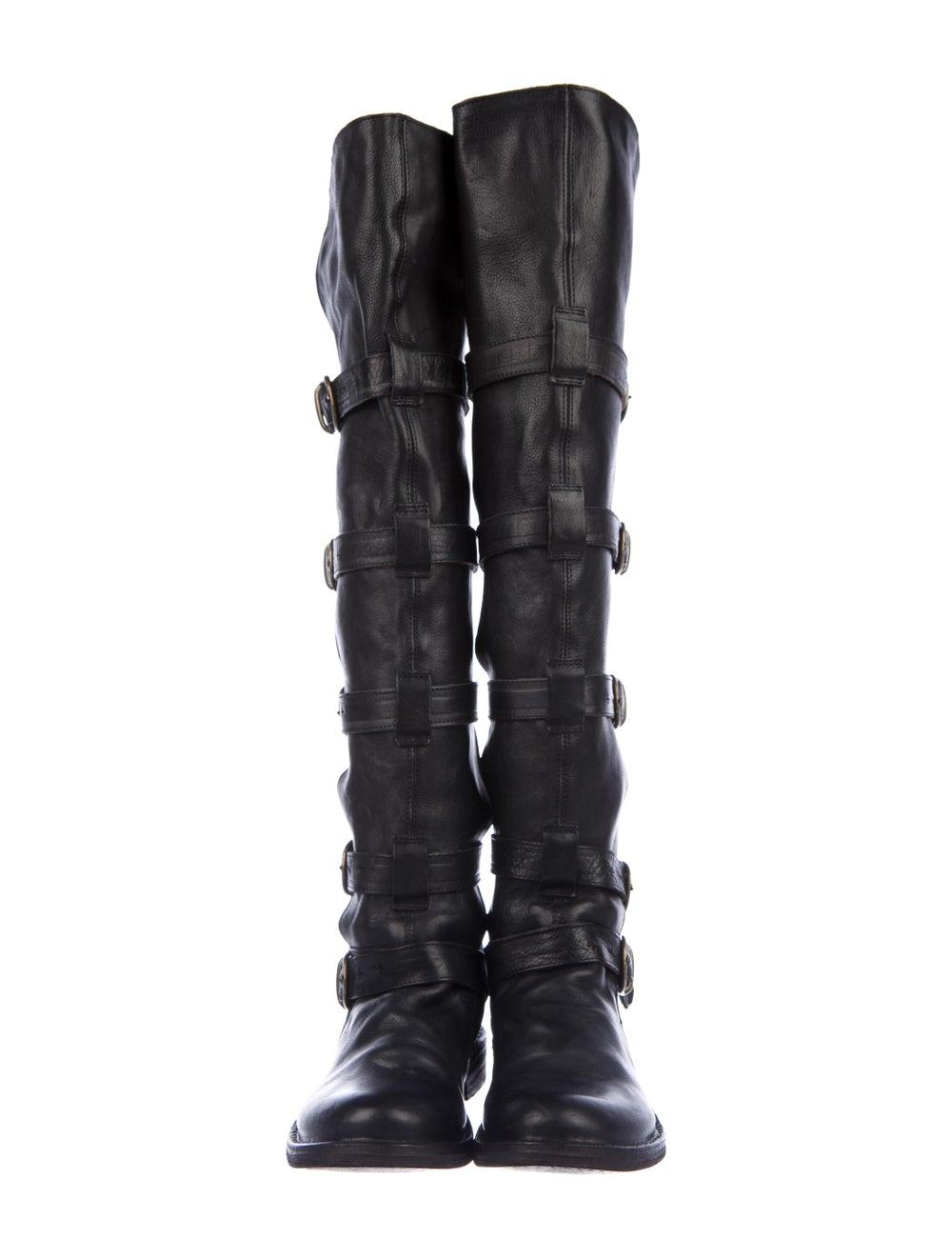 Fiorentini + Baker Leather Combat Boots Black - image 3