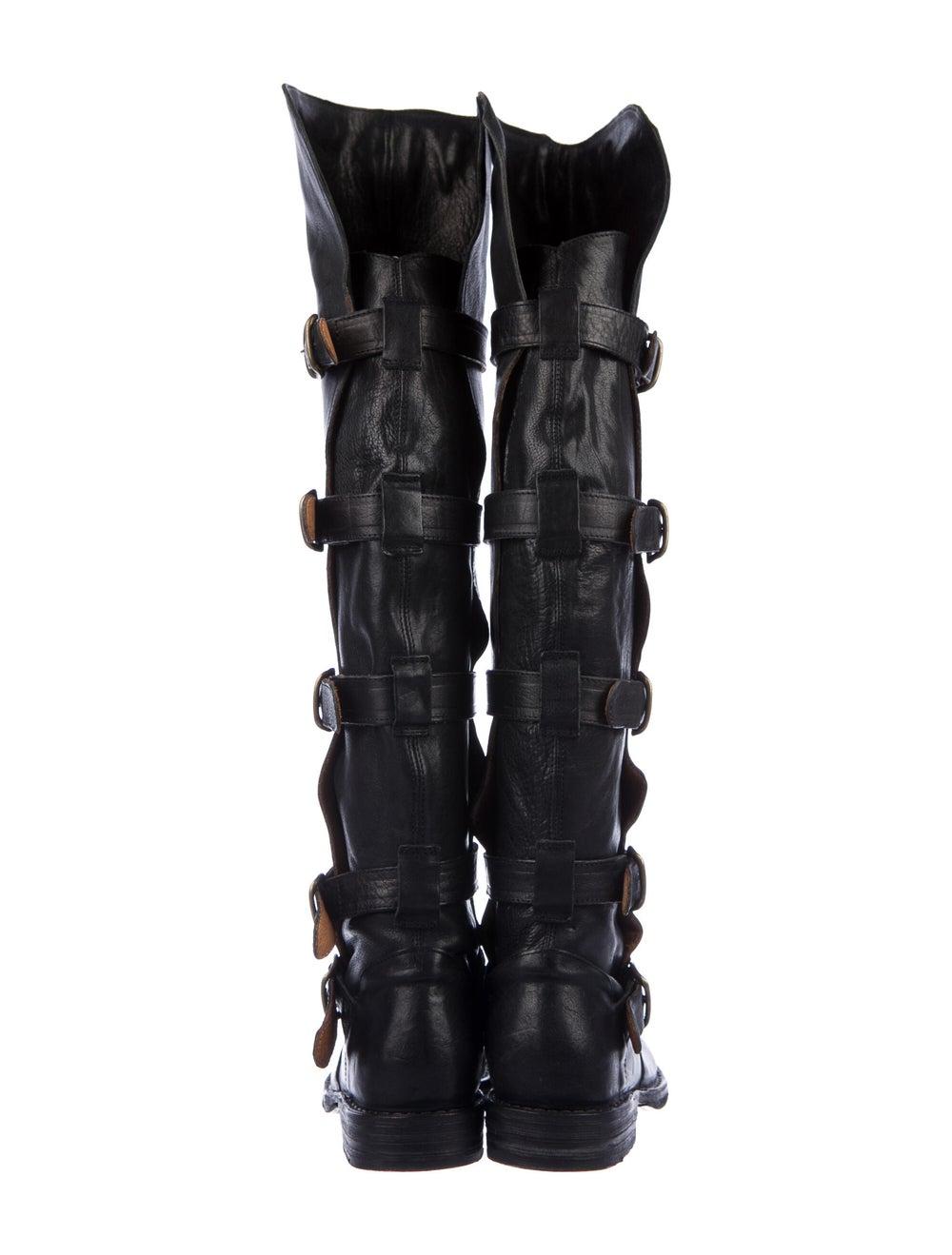 Fiorentini + Baker Leather Combat Boots Black - image 4