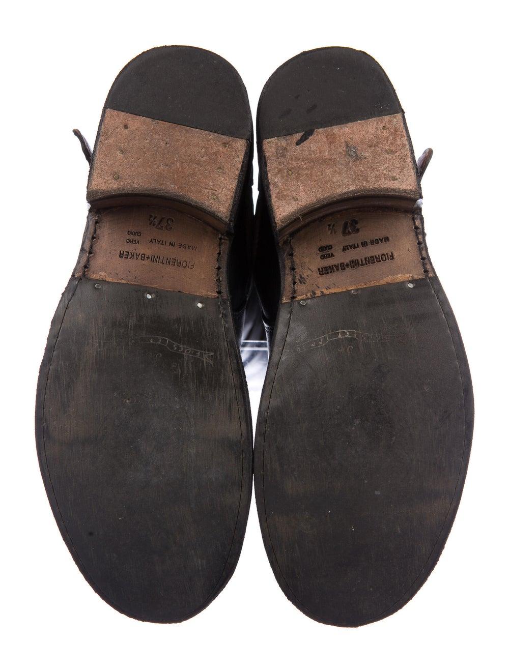Fiorentini + Baker Leather Combat Boots Black - image 5