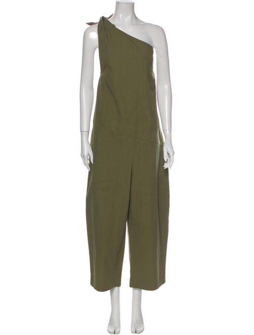 Fabiana Pigna One-Shoulder Jumpsuit Green