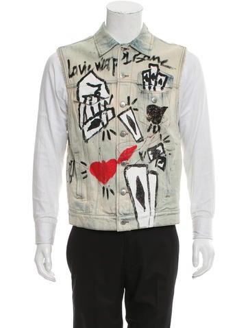 Faith Connexion Graffiti Joker Print Vest None