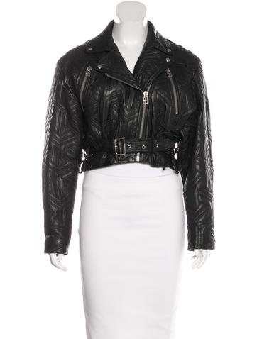 Faith Connexion Quilted Leather Jacket w/ Tags - Clothing ... : white quilted leather jacket - Adamdwight.com
