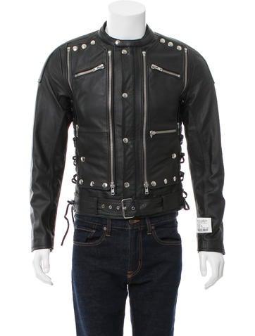 Embellished Leather Jacket w/ Tags