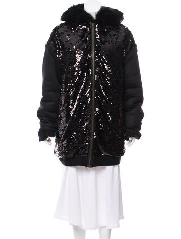 Faith Connexion Reversible Sequin & Faux Fur Hoody None