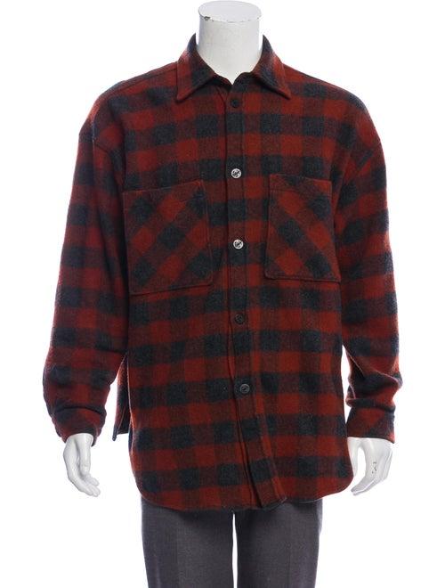 Faith Connexion Wool Buffalo Plaid Shirt Jacket gr