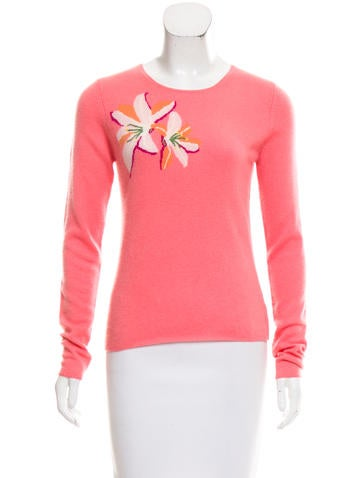 Christopher Fischer Cashmere Floral Print Sweater None