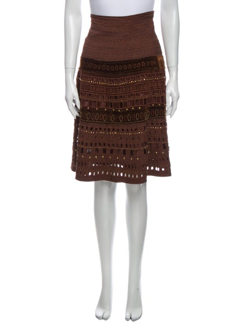 Christopher Fischer Printed Knee-Length Skirt Brow