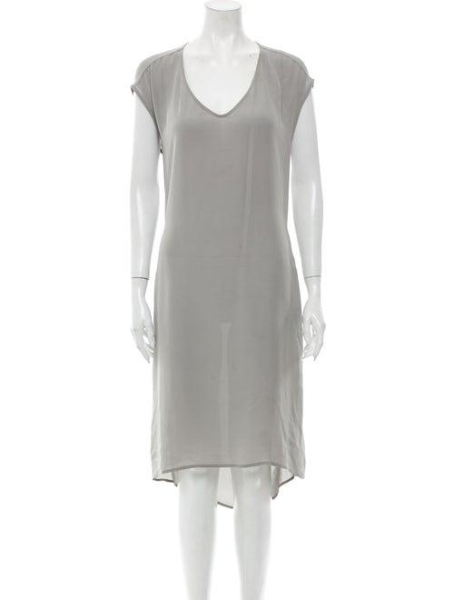 Christopher Fischer Silk Midi Length Dress Grey