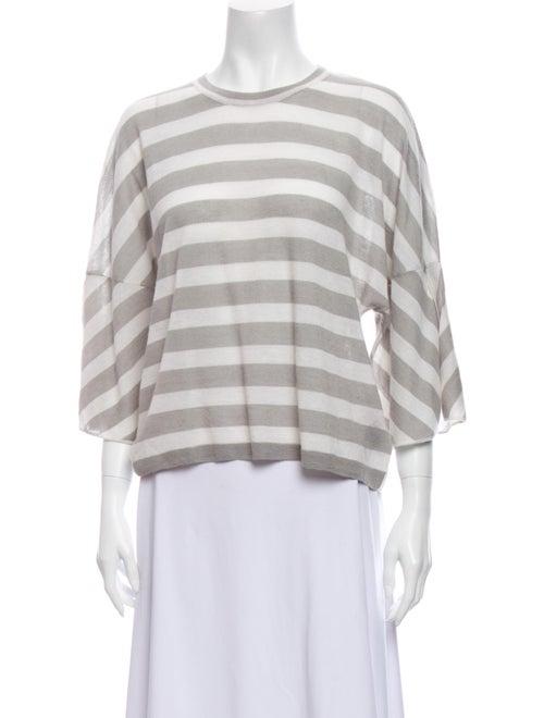 Christopher Fischer Cashmere Striped Sweater Grey
