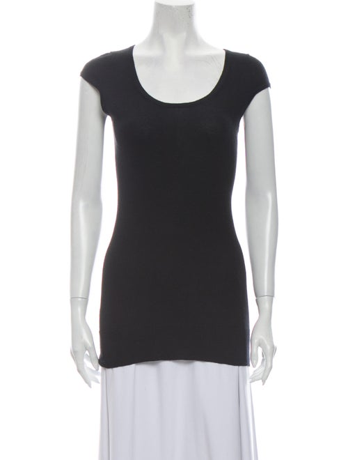 Christopher Fischer Silk Scoop Neck Sweater Black