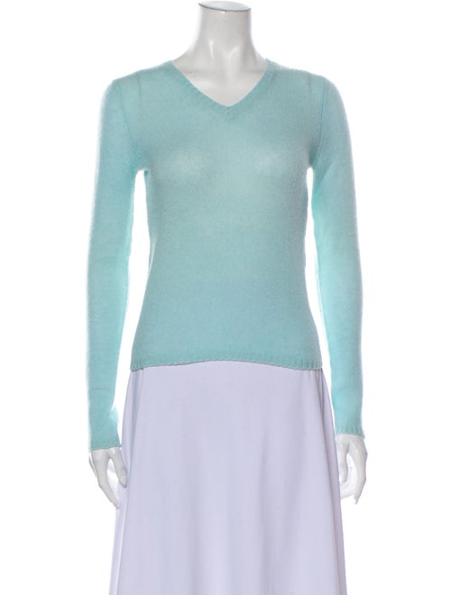 Christopher Fischer Cashmere V-Neck Sweater Blue