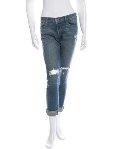 Distressed Le Garcon Jeans