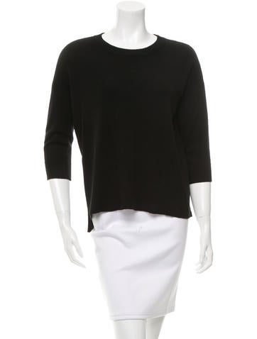 Frame Denim Long Sleeve Rib Knit Sweater None