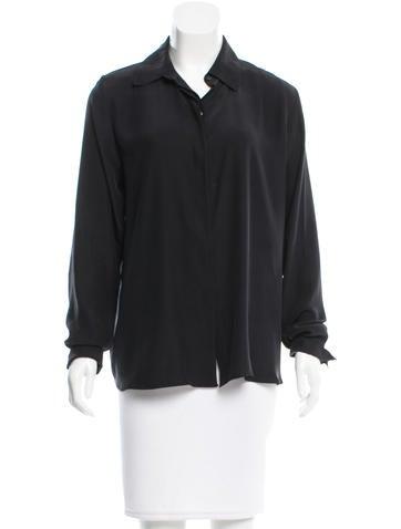 Frame Denim Silk Button-Up Top