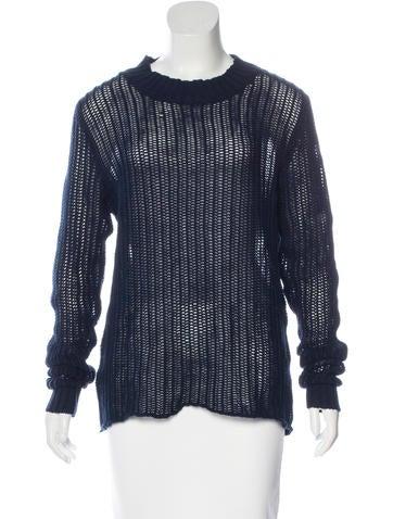 Frame Denim Crew Neck Knit Sweater None