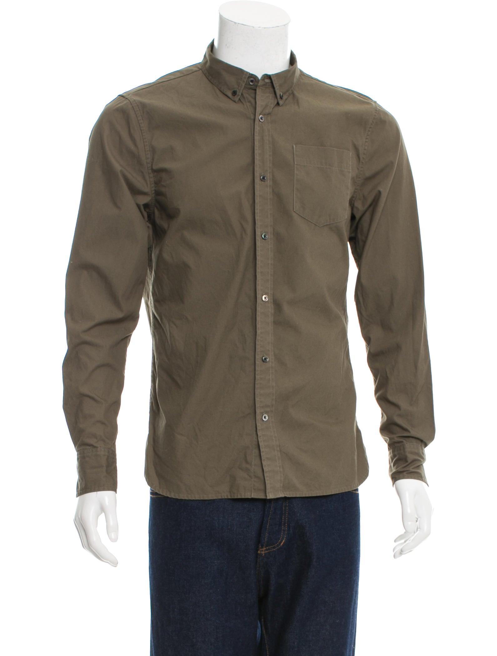 Frame Denim Long Sleeve Button Up Shirt Clothing