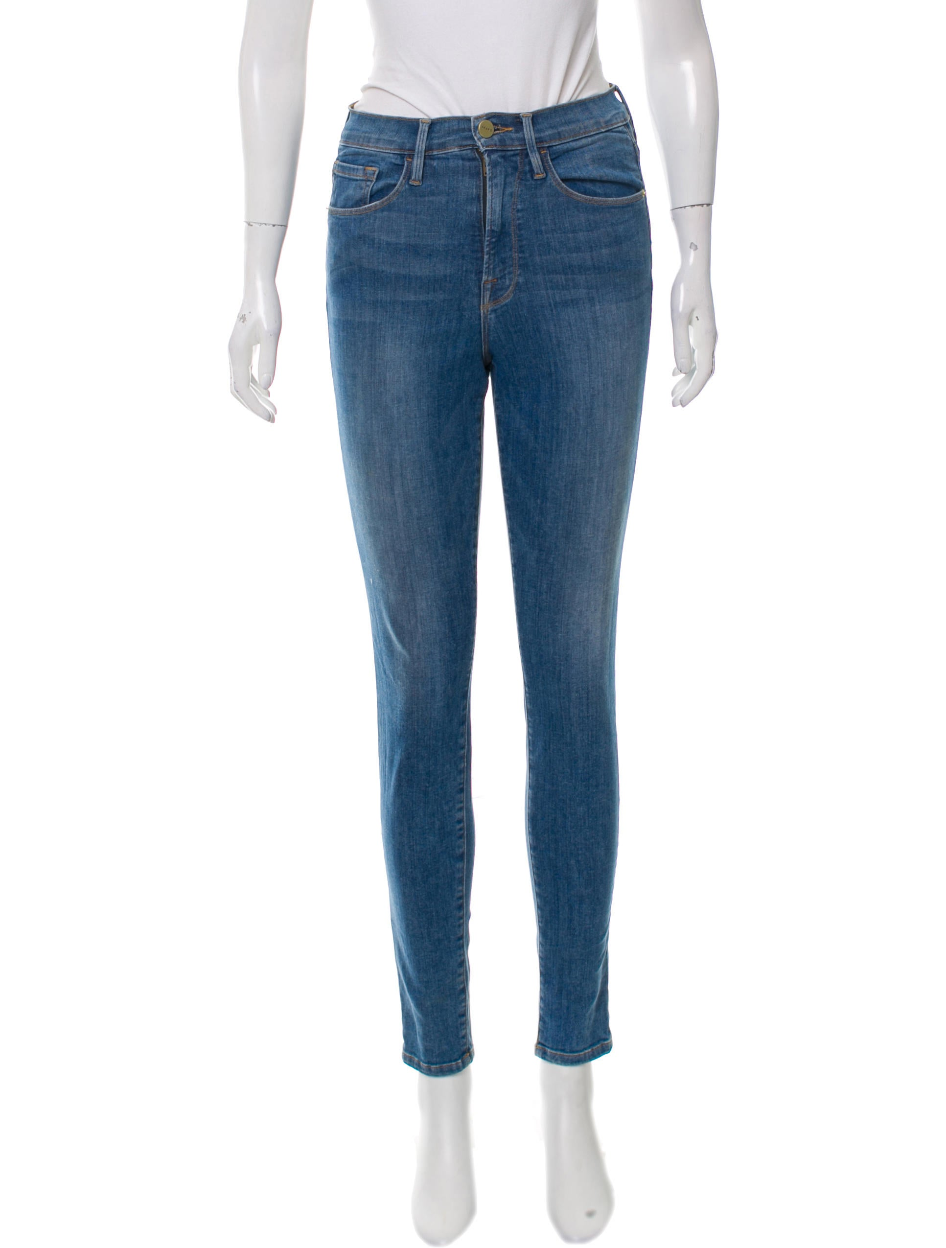 Ali High-rise Skinny Jeans - Mid denim Frame Denim Clearance Huge Surprise Free Shipping Clearance Shopping Online Clearance Cheap Sale Fashion Style How Much Cheap Price apu1H