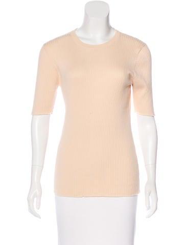 Frame Denim Rib Knit Short Sleeve Top w/ Tags None