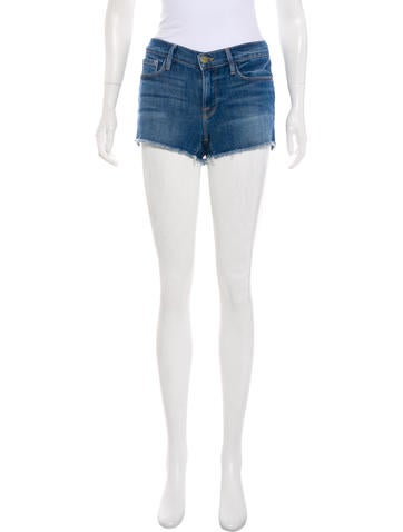 FRAME Distressed Denim Shorts None