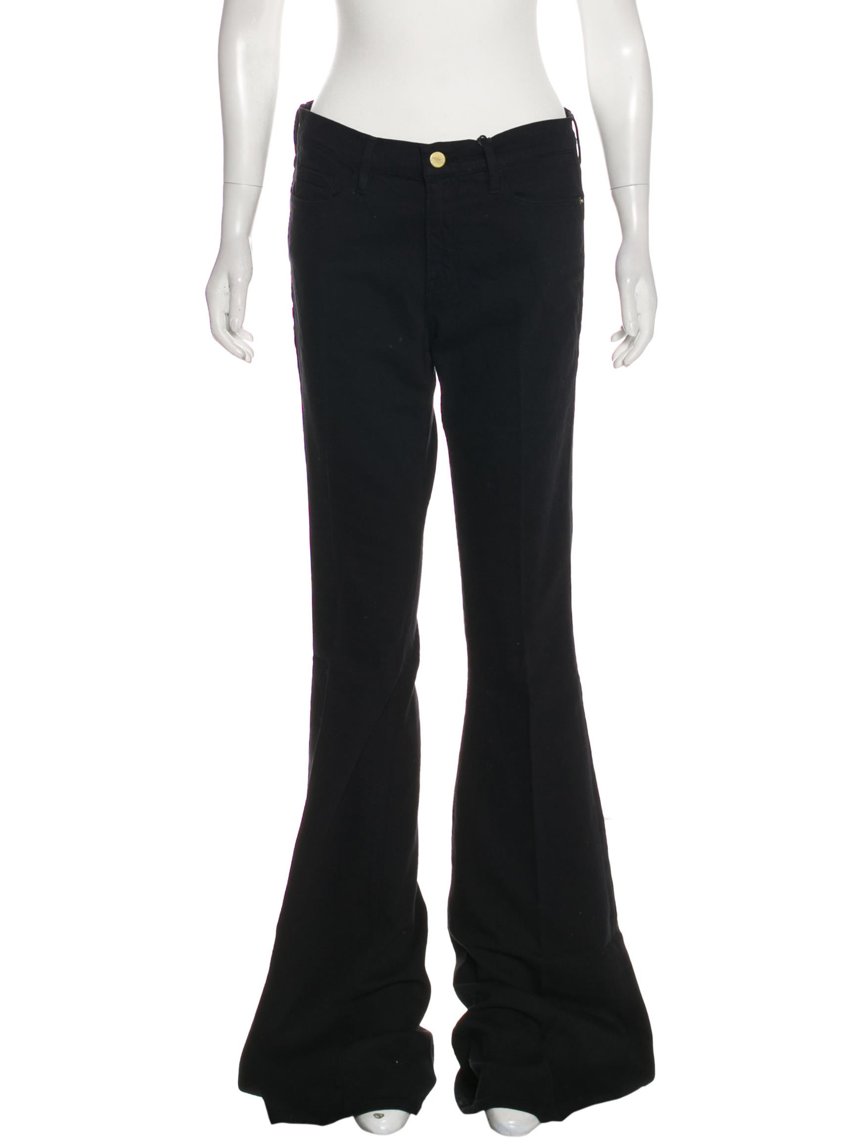 FRAME Forever Karlie Mid-Rise Flared Jeans - Clothing - WFD34518 ...
