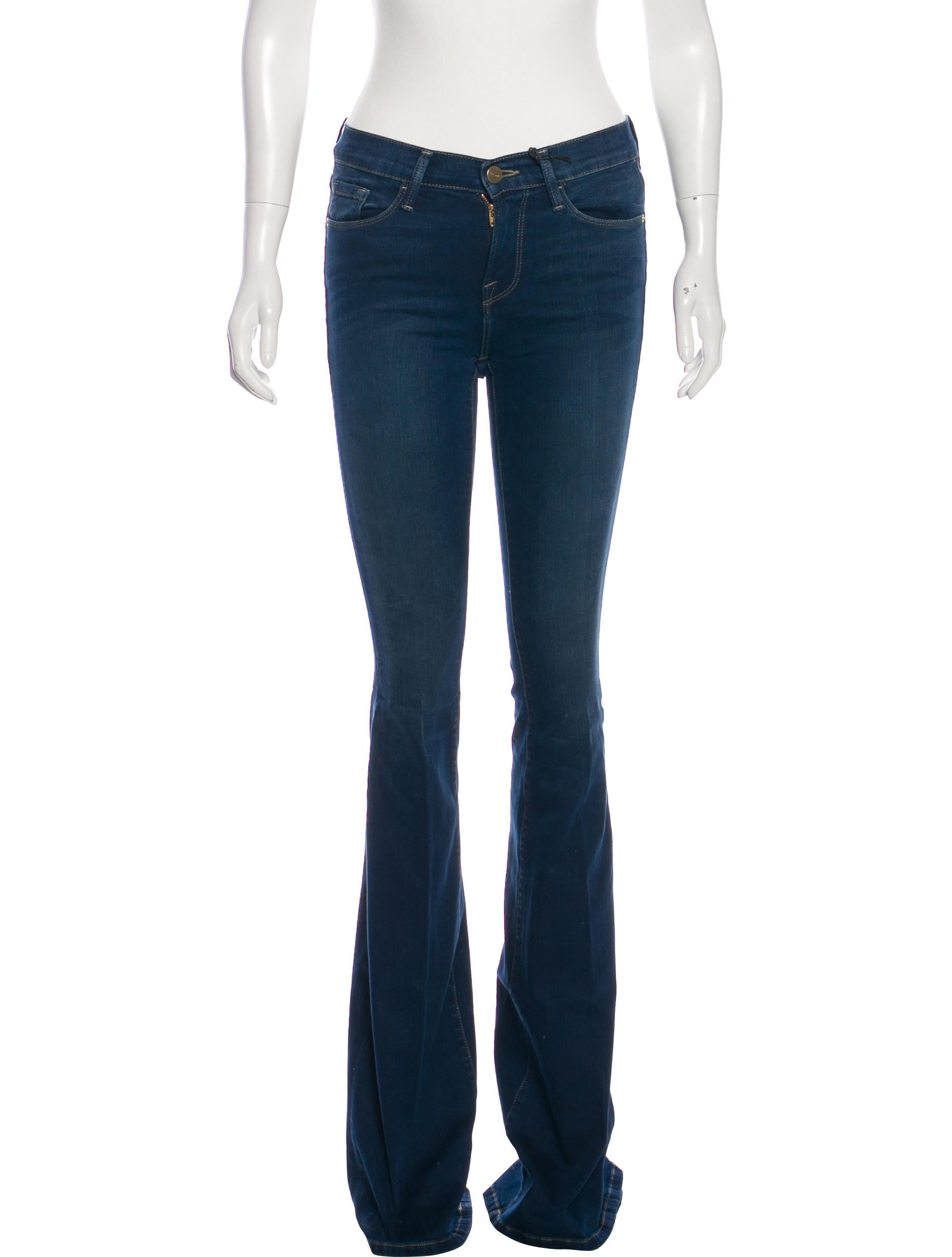 FRAME Forever Karlie Mid-Rise Flared Jeans - Clothing - WFD34521 ...