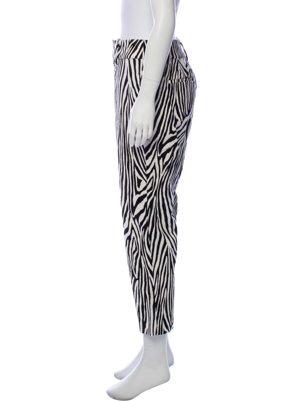 Frame Animal Print High-Rise Pants White - image 2