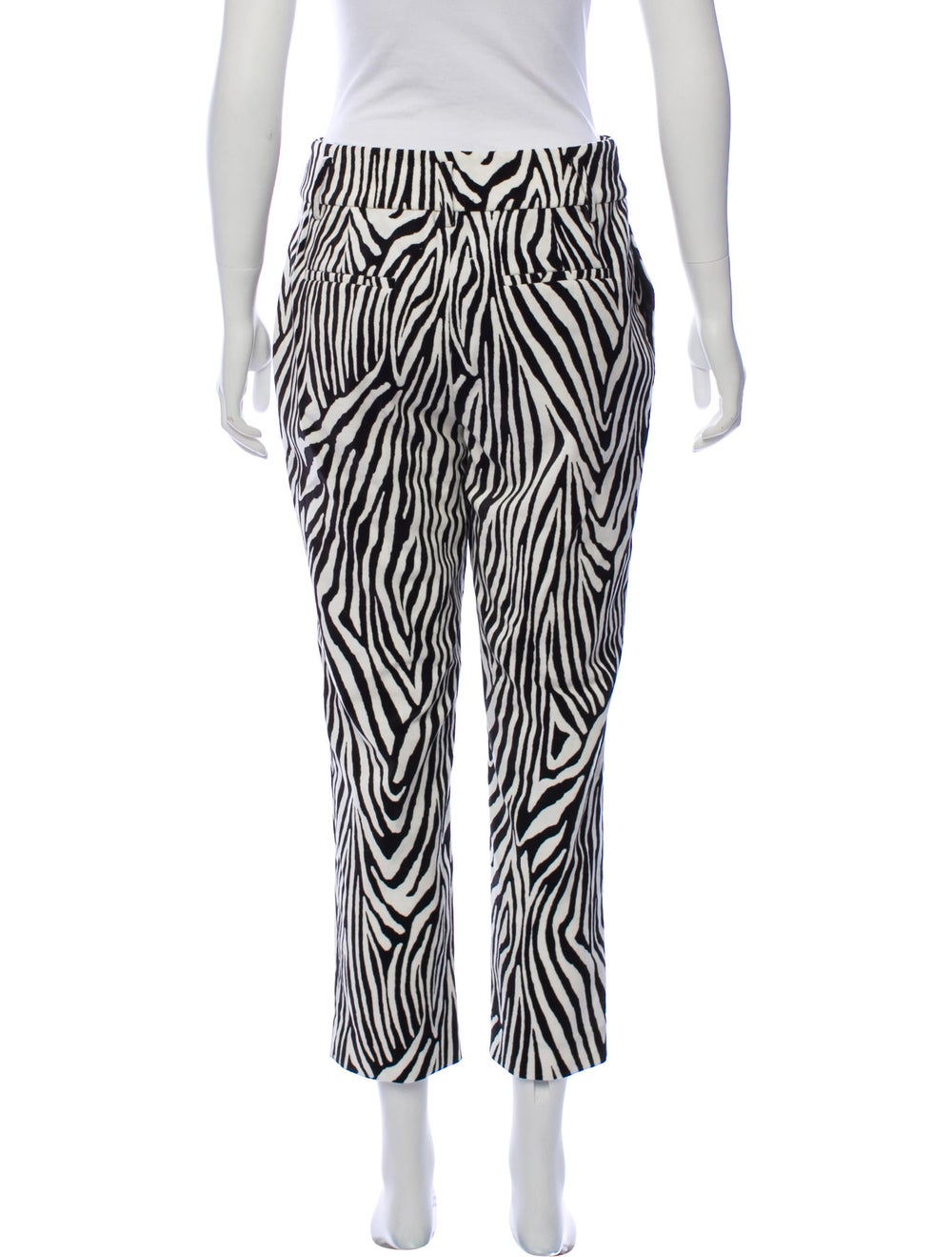 Frame Animal Print High-Rise Pants White - image 3