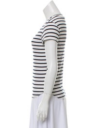 Striped Crew Neck T-Shirt w/ Tags image 2