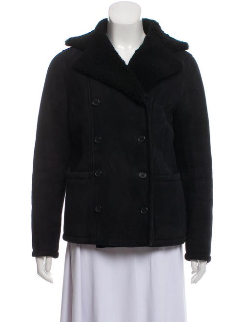 Frame Shearling Jacket Black