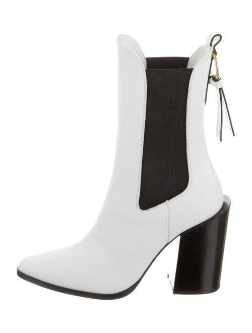 Frame Leather Mid-Calf Boots w/ Tags White