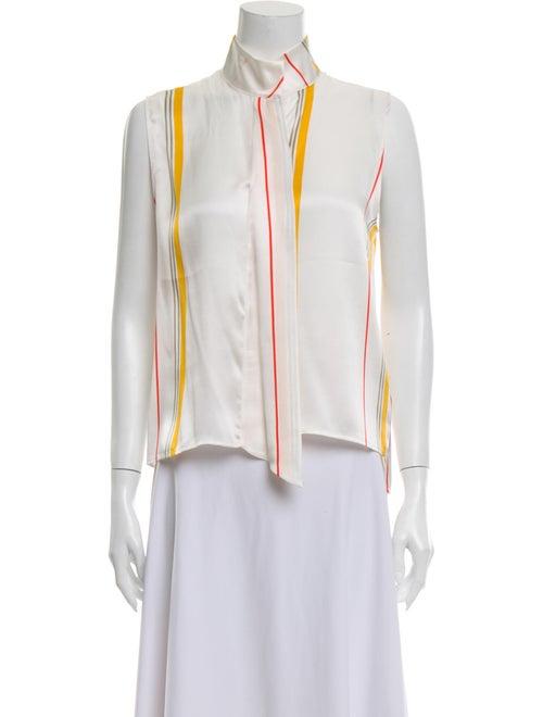 Frame Silk Striped Blouse