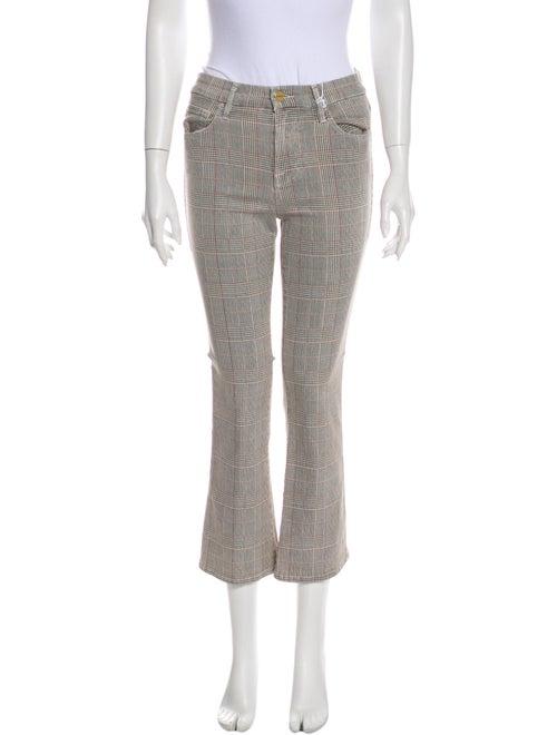 Frame Plaid Print Straight Leg Pants w/ Tags