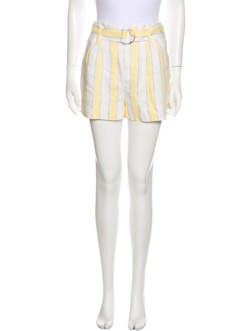 Frame Linen Mini Shorts Yellow