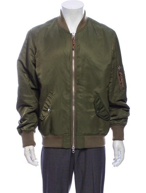 Frame Bomber Jacket Green