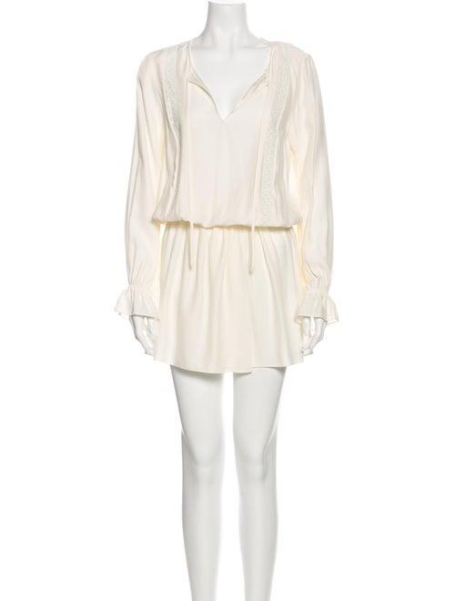 Frame Silk Mini Dress White