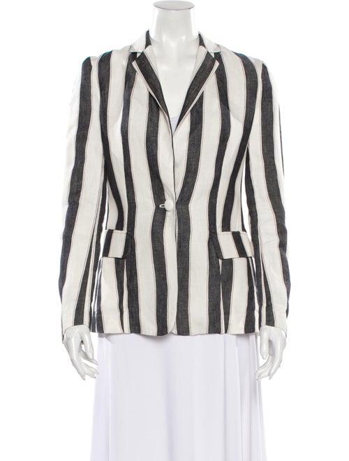 Frame Linen Striped Blazer White - image 1