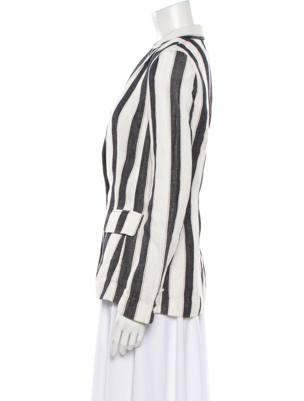 Frame Linen Striped Blazer White - image 2