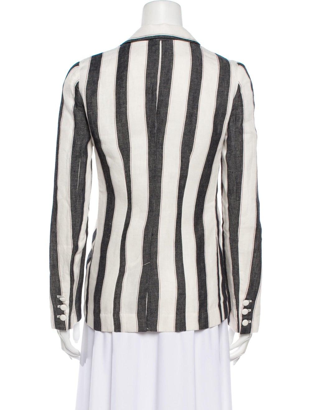 Frame Linen Striped Blazer White - image 3