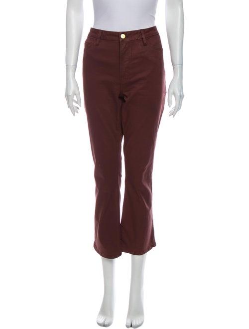 Frame Mid-Rise Wide Leg Jeans Purple