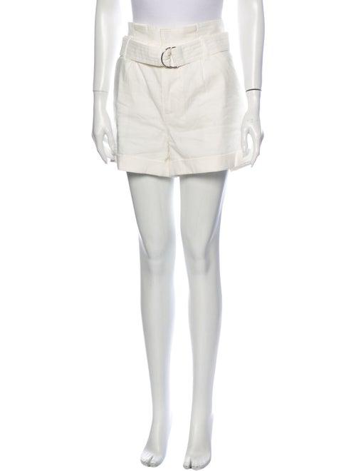 Frame Linen Mini Shorts White