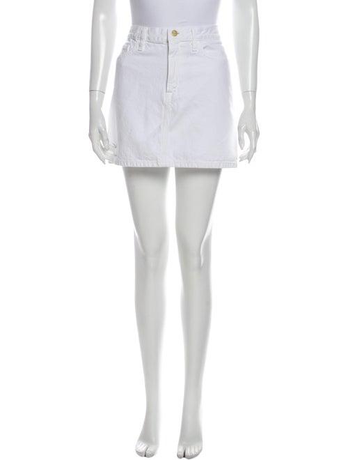 Frame Mini Skirt White