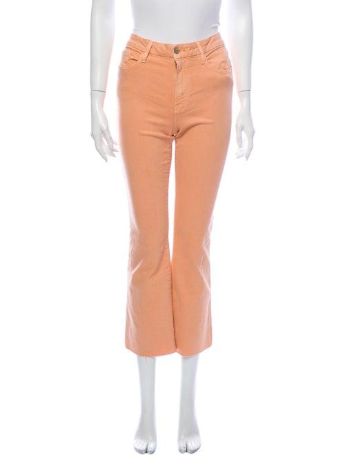 Frame Mid-Rise Flared Jeans Orange