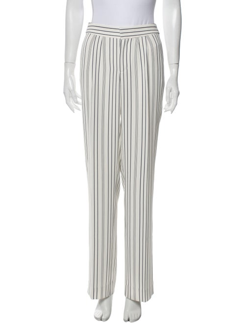 Frame Striped Wide Leg Pants White