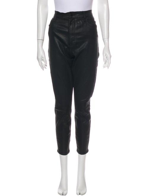 Frame High-Rise Skinny Leg Jeans Black