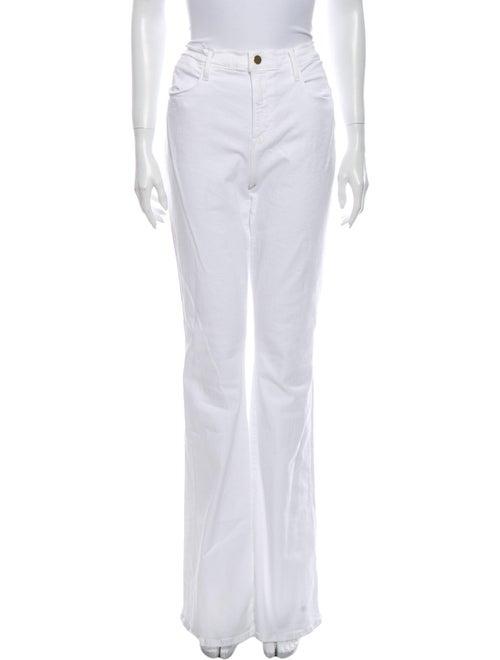 Frame High-Rise Wide Leg Jeans White