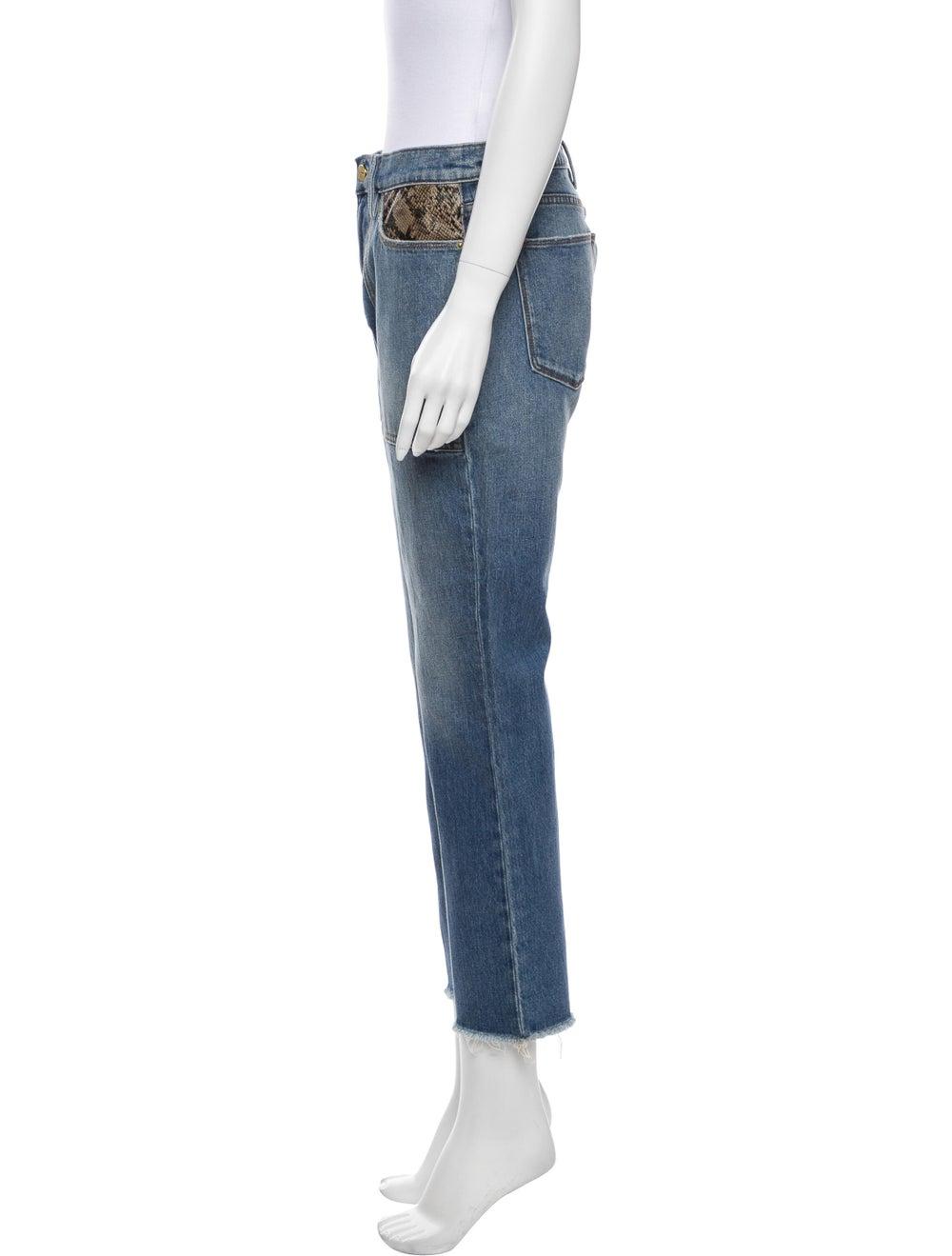 Frame Mid-Rise Straight Leg Jeans Blue - image 2